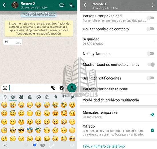 imagen chats en Fouad iOS WhatsApp