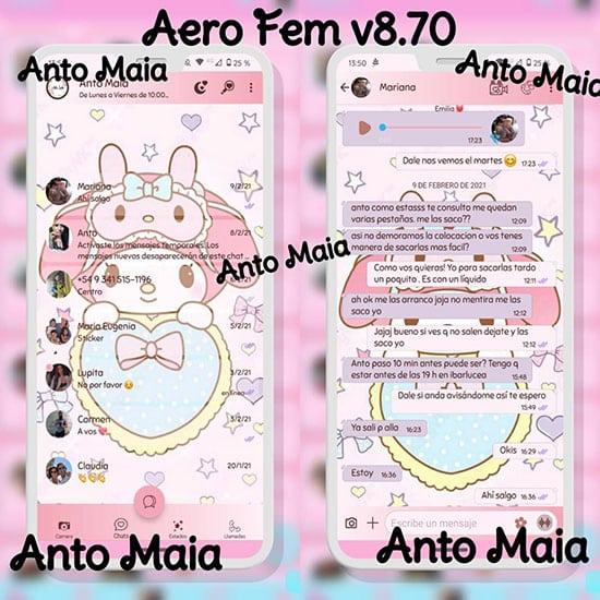 WhatsApp Aero Femenino