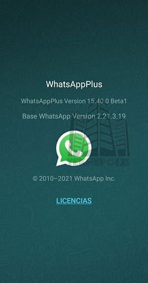 imagen con las últimas novedades de la versión 15.40.0 de WhatsApp Plus 2021