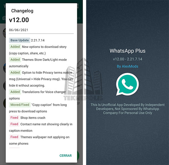 WhatsApp PLUS AZUL de AlexMods 12.00 imagen 03