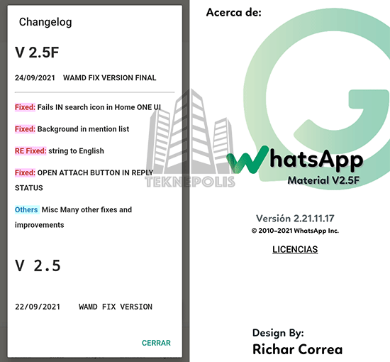 WhatsApp Material D2 v2.5F imagen 04